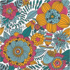 #vintage #flowers #illustration