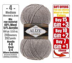 Pre Cut Yarn Needle Punch Latch Hook Wool Kit 10 x 25gr colors strands pack
