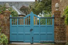 Painted driveway gates at Gina Price's home, Pettifers. Photography by Christina Salwitz (All rights reserved)
