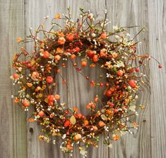 Autumn Wreath, fall, holidays, craft, rustic wreath, ruche