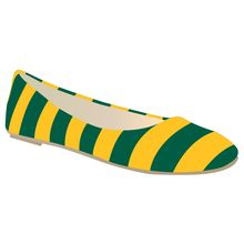 #Baylor University striped ballet flats