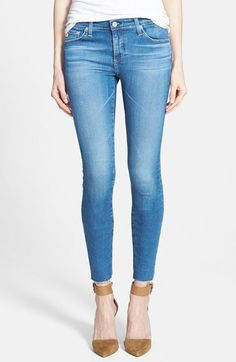 Free shipping and returns on AG 'The Legging' Ankle Jeans (22 Year Spree) at Nordstrom.com. Vintage fading and whiskering accent dark-blue stretch jeans fashioned with skinny legs. Contrast stitching on the back pockets brands the look.