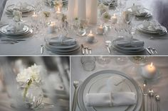 Carrément Blanc - Décorations d'ambiance table mariage