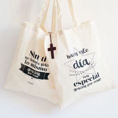 Details for First Communion or Christening guests rnrnSource by Jute Bags, Ideas Para Fiestas, First Holy Communion, Small Gifts, Printed Shirts, Our Wedding, Wedding Ideas, Christening, Thankful