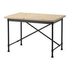 KULLABERG Escritorio, pino, negro - 110x70 cm - IKEA
