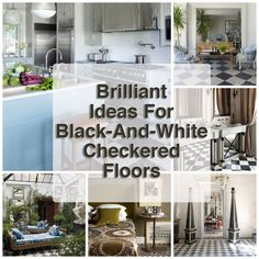Lucky enough to live in a home with classic, beautiful black-and-white floors?