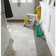 £20/sqm Atlas Patchwork Glazed Ceramic Wall & Floor Tile - 331 x 331mm