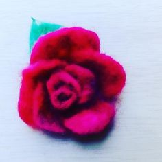Beatifull rose Felt work, Wool, brooch or pin hair. Hand made felted Perfect gift. Cherry Flower, Sugar Rose, Rose Gift, Felt Brooch, Elegant Flowers, Valentine Gifts, Hair Pins, Mother Day Gifts, Gifts For Women