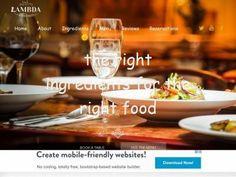 Адаптивный шаблон ресторана, одностраничная визитка с анимацией элементов вёрстки Bootstrap 3, готовая для установки на сайт.