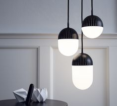 This is Dot: a collection of pendant lights imagined by the talented designer Rikke Frost, and suggested as a novelty at Woud, a danish house of design. ...