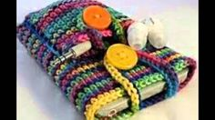 Crochet Cell Phone Case, iPhone Sleeve with Button Closure - YouTube