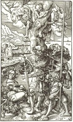 Urs Graf - Landsknecht, Swiss Mercenary, Prostitute and Death, 1524