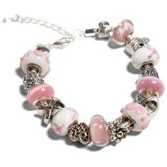 Breast Cancer Awareness Handmade Beaded Bracelet