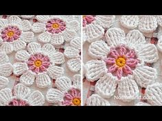 Transcendent Crochet a Solid Granny Square Ideas. Inconceivable Crochet a Solid Granny Square Ideas. Crochet Flower Squares, Flower Granny Square, Crochet Puff Flower, Crochet Flower Tutorial, Crochet Diy, Crochet Flower Patterns, Crochet Motif, Crochet Flowers, Crochet Stitches