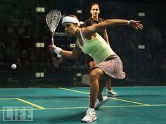Squash... one day I will be as good as these chicks. For now, I play just for fun.