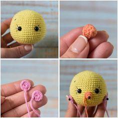 Crochet the sweet chick in dress with this easy to … Crochet Gratis, Free Crochet, Crochet Toys Patterns, Crochet Dolls, Half Double Crochet, Single Crochet, Easter Toys, Crochet Birds, Creations
