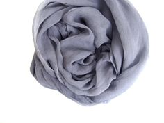 Gray Scarf Sheer Lightweight Gray Silk Scarf by TheChicArtisan, $36.00