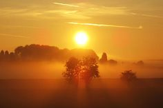 An Autumn mist rises from the lower reaches of the River Wharfe.