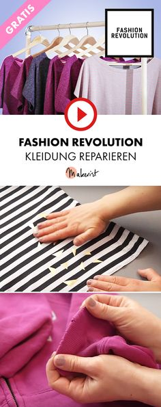 Tipps zum Reparieren von Kleidung und Vorstellung der Fashion Revolution - Makerist auf Youtube   #nähenmitmakerist #nähen #nähanleitung #schnittmuster #schnitt #pdfschnitt #pdfpattern #nähenmachtglücklich #nähenistwiezaubernkönnen #nähenisttoll #sewing #sew #sewingproject #sewingpattern #diy #diyproject #fashionrevolution #fashionrevolutionweek #fashionrevolutionday #kleidungfixen #kleidungreparieren #kleider #patch #upcycling #plotten #plotterpatch