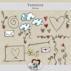 SoMaDesign Valentine Extras Digital Scrapbooking, Doodles, Kids Rugs, Kit, Design, Decor, Kid Friendly Rugs, Decorating, Dekoration