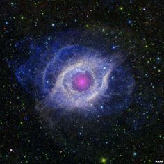 The Eye in the Universe. The Helix nebula, a dying star 650 light years away, in the constellation of Aquarius. Image from NASA's Spitzer Space Telescope. From BBC News Day in Pictures, 5 Oct 2012