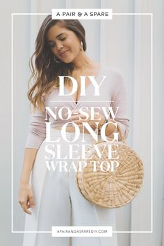 Diy long sleeve wrap top - no sewing required!