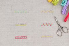 Layer a few different stitches to make a border or more complex line. Use these embroidery stitch combinations as a starting point!