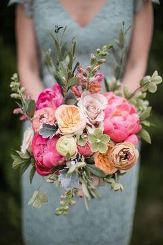 Spring is in Bloom | Wedding Bouquet Inspiration | Pink and Orange Wedding