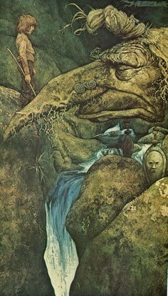 ''The River Teign'' (earth and water) by Brian Froud