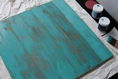 Distressed Wood Sign – Ok, this idea includes two tutorials. The first for the distressed wood was found on Love and Olive Oil and the second for stenciling I saw over at The Girl on the Go.