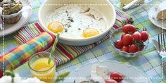 colorful breakfast, kitchen textile, holiday gifts, www.dishwish.co.il