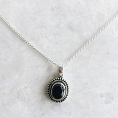 Onyx pendant necklace sterling silver black onyx necklace silver onyx pendant necklace sterling silver black onyx necklace silver stone necklace boho necklace sch7 black onyx sterling silver and stone aloadofball Choice Image