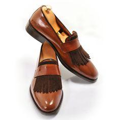 Handmade Wooden Loafer Mens Shoes