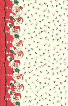Moda Vintage Style Christmas Toweling Santa per 1 2 Yd | eBay