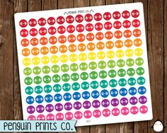 Barbell Stickers, Workout Stickers, Exercise Stickers, Rainbow Stickers, Matte Stickers, Repositionable, Removable, Planner Stickers