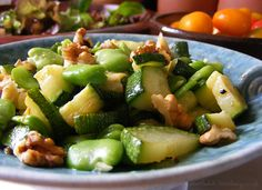 Broad Bean and Courgette Salad