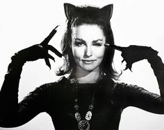 Julie Newmar as Catwoman in a publicity portrait for the Batman TV series (1960's)
