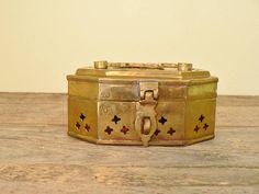 Brass cricket box brass jewelry box Ring box Brass trinket