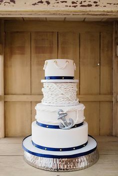 Photo Credit: Pruitt Reid Photography Event Produced by: Watanabe Events Cake: Whisk Cakes Wedding Show, Our Wedding, Wedding Ideas, Nautical Wedding Theme, Cake Gallery, Wedding Cake Inspiration, Love Is Sweet, How To Make Cake, Wedding Cakes