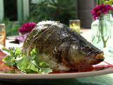 Picture of Thai Roasted Green Fish Recipe- with mint and cilantro yum...