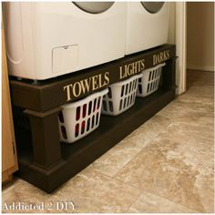 diy home sweet home: 10 Ways to Make Your Laundry Room Look Amazing Use these 10 diy hacks to create an amazing laundry room Laundry Basket Organization, Laundry Room Organization, Storage Organization, Storage Ideas, Laundry Rooms, Storage Solutions, Basket Storage, Laundry Storage, Storage Shelves