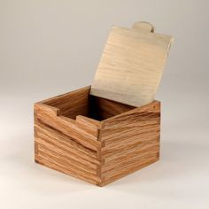 Wooden Trinket Box with White Lid by JMCraftworks on Etsy