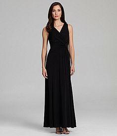 $89 Sangria BeadedDetail Gown #Dillards