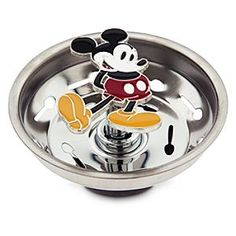 Disney Mickey Mouse Kitchen Sink Strainer | Disney StoreMickey Mouse Kitchen Sink Strainer - Let Mickey bring an extra smile to your kitchen sink with this happy drain strainer featuring a colorful cloisonn� twist mechanism.