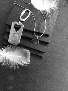 'She Stole My Heart' sterling silver key tag over at :  https://www.facebook.com/Agnes.d.r.Jewellery/app_2231777543