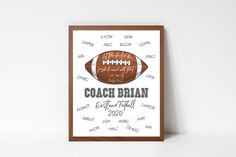 Psalm 96:12 Let the Field be joyful and all that is in it, Football Printable, Football Coach Appreciation, Religious gift Football Team Art Team Quotes, Football Quotes, Football Team, Coach Christmas Gifts, Team Word, Coach Appreciation Gifts, Psalm 96, Choose Quotes, School Chalkboard