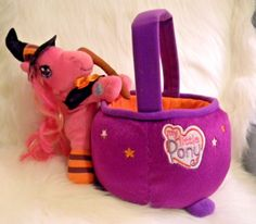 My Little Pony Halloween Basket Witch Hat Novelty Trick Or Treat 2007 Rare