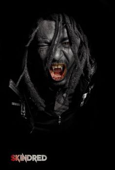 Benji Webbe from the raggametal-band 'Skindred' turned into a vampire. Artwork made by me.