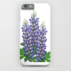 Phone case | Blue and white lupine flowers, garden floral photo, iphone, ipod, galaxy s6, galaxy s5 s4, nature photograph, color photography by RVJamesDesigns on Etsy