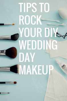 You can save a lot of money by doing some things yourself. Like your wedding day makeup. With a bit of practice ahead of time and the right products, you can have the long lasting wedding day look you dream of without breaking the bank. | wedding makeup tips | wedding budget tips | wedding planning | bridal style | #weddingdaymakeup #weddingmakeup